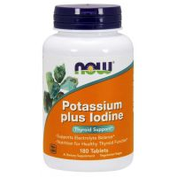 Potassium plus Iodine - Potas + Jod (180 tabl.) NOW Foods