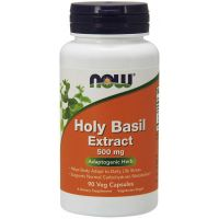 Holy Basil Extract - Święta Bazylia (Tulsi) 500 mg (90 kaps.) NOW Foods