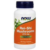 Rei-Shi Mushrooms - Reishi i Shiitake 270 mg (100 kaps.) NOW Foods