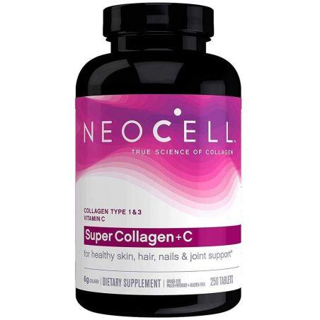 Super Collagen + C - BioActive Kolagen Typ I i III + Askorbinian Wapnia + Sód (250 tabl.) NeoCell