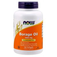 Borage Oil GLA - Olej z Ogórecznika 1000 mg (120 kaps.) NOW Foods