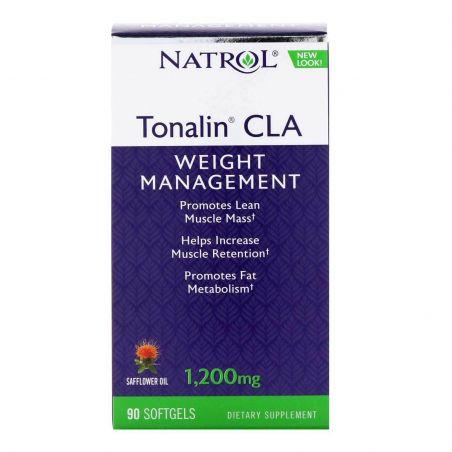 Tonalin CLA - Sprzężony Kwas Linolowy z Krokosza Barwierskiego 1200 mg (90 kaps.) Natrol