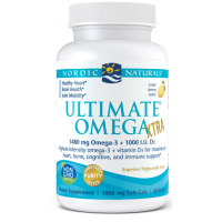Ultimate Omega Xtra - Omega 3 o smaku cytrynowym 740 mg + Witamina D3 1000 IU (60 kaps.) Nordic Naturals