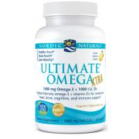 Ultimate Omega Xtra - Omega 3 o smaku cytrynowym 740 mg + Witamina D3 1000 IU (60 kaps.) Nordic Naturals