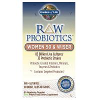 RAW Probiotics Women 50 & Wiser - Probiotyk dla Kobiet 50+ (90 kaps.) Garden of Life