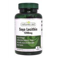 Soya Lecithin - Lecytyna Sojowa 1200 mg (90 kaps.) Natures Aid