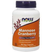 Mannose Cranberry - D-mannoza z Żurawiną (90 kaps.) NOW Foods