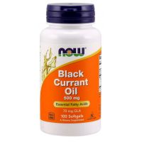 Black Currant Oil - Olej z Czarnej Porzeczki 500 mg (100 kaps.) NOW Foods