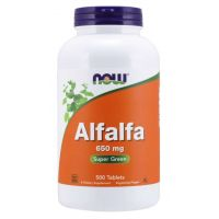 Alfalfa - Lucerna Siewna 650 mg (500 tabl.) NOW Foods