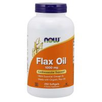 Flax Oil 1000 mg - Olej lniany (250 kaps.) NOW Foods