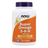 Super Omega 3-6-9 1200 mg (180 kaps.) NOW Foods