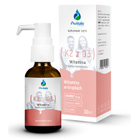 Witamina K2 MK7 (VitaMk7) 20 mcg + Witamina D3 500 IU (30 ml) Avitale