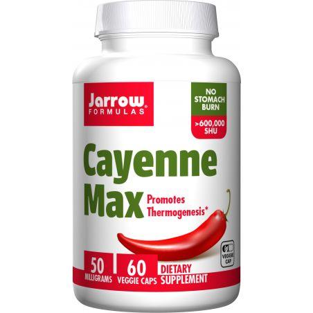 Cayenne Max - Pieprz Kajeński 50 mg (60 kaps.) Jarrow Formulas