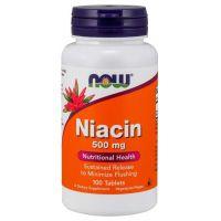 Witamina B3 - Niacyna (Niacin) 500 mg (100 tabl.) NOW Foods