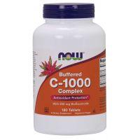 Buforowana Witamina C 1000 mg + Bioflawonoidy Cytrusowe 250 mg (180 tabl.) NOW Foods