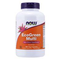 EcoGreen Multi - Zestaw Witamin i Minerałów bez Żelaza (180 kaps.) Now Foods