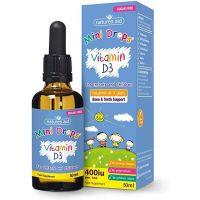 Vitamin D3 Mini Drops - Witamina D3 400 IU dla Dzieci (50 ml) Natures Aid