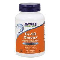 Tri-3D Omega-3 - Omega-3 + Witamina D3 (90 kaps.) NOW Foods
