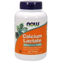 Calcium Lactate - Mleczan Wapnia (250 tabl.) NOW Foods