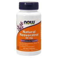 Natural Resveratrol 50 mg - Ekstrakt z Rdestowca Japońskiego (60 kaps.) NOW Foods