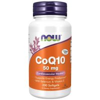 Koenzym Q10 50 mg (200 kaps.) NOW Foods
