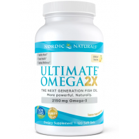 Ultimate Omega 2X - Omega 3 o smaku cytrynowym (120 kaps.) Nordic Naturals