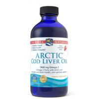 Arctic Cod Liver Oil - arktyczny Olej z Wątroby Dorsza o smaku truskawkowym (237 ml) Nordic Naturals