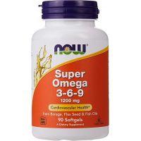Super Omega 3-6-9 1200 mg (90 kaps.) NOW Foods