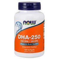 DHA - 250 DHA 125 EPA Kwas dokozaheksaenowy 250 mg (120 kaps.) Now Foods