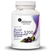 Acai Berry 3200 - Jagody Acai ekstrakt 4:1 (100 kaps.) Aliness
