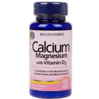 Calcium Magnesium plus Vitamin D3 - Wapń, Magnez i Witamina D3 (120 tabl.) Holland & Barrett