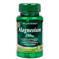 Magnesium - Magnez 250 mg (100 tabl.) Holland & Barrett