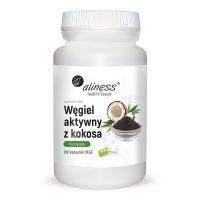 Węgiel Aktywny z Kokosa 300 mg (100 kaps.) Aliness