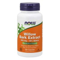 Willow Bark Extract - Ekstrakt z kory Wierzby Białej 400 mg (100 kaps.) NOW Foods
