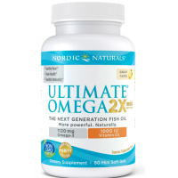 Ultimate Omega 2X Mini with Vitamin D3 - Omega 3 + Witamina D3 o smaku cytrynowym (60 kaps.) Nordic Naturals