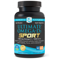 Ultimate Omega-D3 Sport - Omega 3 + Witamina D3 o smaku cytrynowym (60 kaps.) Nordic Naturals