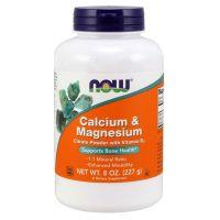 Calcium & Magnesium - Wapń + Magnez (227 g) NOW Foods