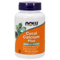 Wapno Koralowe (Coral Calcium Plus) - Wapno z Koralowca + Magnez + Witamina D (100 kaps.) NOW Foods