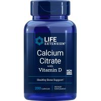 Calcium Citrate with Vitamin D - Cytrynian Wapnia + Witamina D3 (200 kaps.) Life Extension