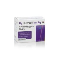 K2 - Intercell® plus D3 - Witamina K2 MK7 + Witamina D3 (90 kaps.) Intercell Pharma