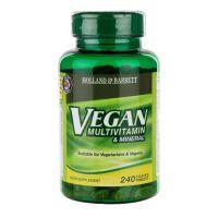 Vegan Multivitamin & Mineral - Zestaw Witamin i Minerałów (240 tabl.) Holland & Barrett