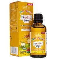 Vitamin C Mini Drops - Witamina C w kroplach dla Dzieci (50 ml) Natures Aid