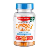 Healthy Kids Omega 3 Fish Oil with A, D, E & C - Omega 3 do żucia dla dzieci z Witaminami (60 kaps.) Holland & Barrett