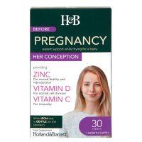 Before Pregnancy Her Conception - Witaminy i Minerały dla Kobiet (30 tabl.) Holland & Barrett