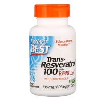 Trans-Resveratrol 100 mg + Polifenole 80 mg (60 kaps.) Doctor's Best