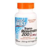 Trans-Resveratrol 200 mg + Polifenole 80 mg (60 kaps.) Doctor's Best