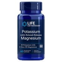 Potas z Magnezem - Magnez ZumXR o przedłużonym uwalnianiu (60 kaps.) Life Extension