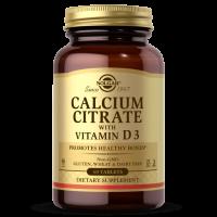 Calcium Citrate with Vitamin D3 - wapń cytrynian + witamina D3 (60 tabl.) Solgar