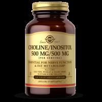 Choline/ Inositol - Cholina + Inozytol 500 mg/ 500 mg (100 kaps.) Solgar
