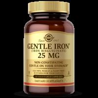 Gentle Iron - Żelazo /dwuglicynian żelaza 25 mg (90 kaps.) Solgar